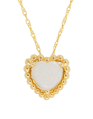 Fine Jewellery 14K Gold Opal Pendant Necklace-OPAL-One Size
