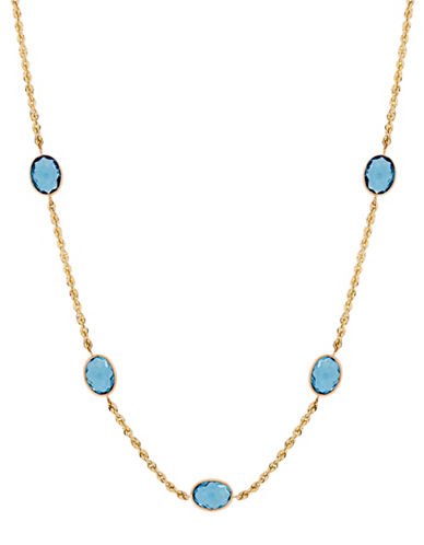 Fine Jewellery Topaz and 14K Gold Chain Necklace-BLUE TOPAZ-One Size