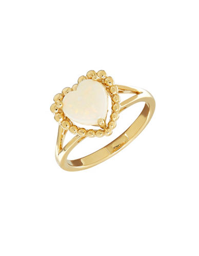 Fine Jewellery 14K Gold Opal Heart Ring-OPAL-7