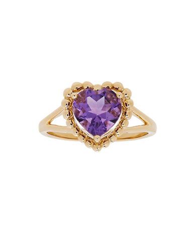 Fine Jewellery 14K Yellow Gold Amethyst Heart Ring-AMETHYST-7