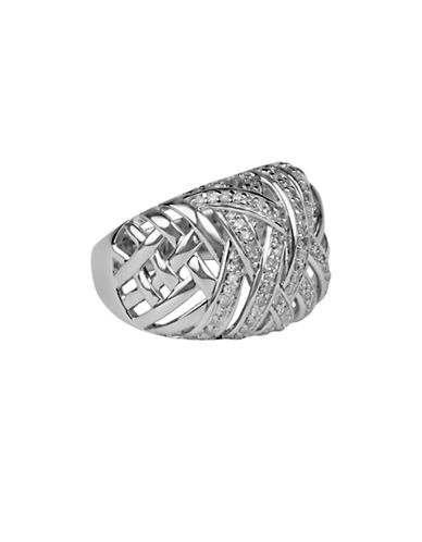 Fine Jewellery Diamond and Sterling Silver Ring-SILVER-7