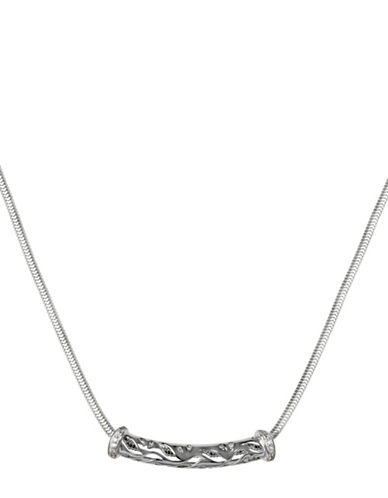 Fine Jewellery Diamond and Sterling Silver Necklace-SILVER-One Size