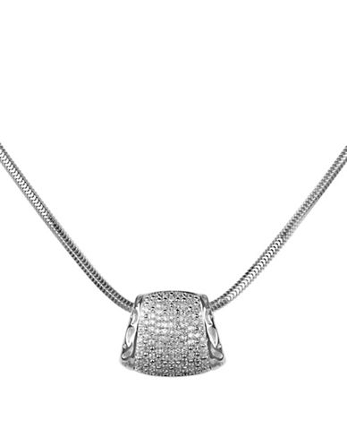 Fine Jewellery Diamond and Sterling Silver Pendant Necklace-SILVER-One Size