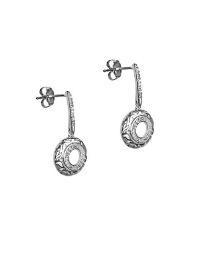 Fine Jewellery Diamond and Sterling Silver Drop Earrings-SILVER-One Size