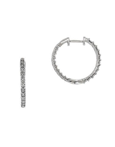 Fine Jewellery Diamond Hoop Earrings-SILVER-One Size