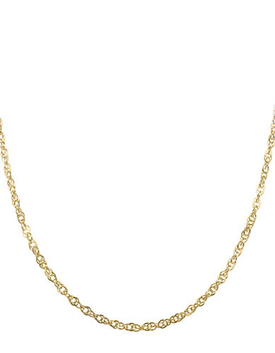Fine Jewellery Fancy 14K Yellow Gold Twist Link Chain Necklace-GOLD-One Size