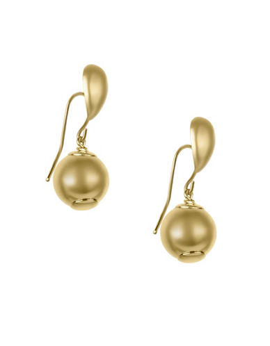 Fine Jewellery 14KT Yellow Gold Ball Drop Earrings-GOLD-One Size