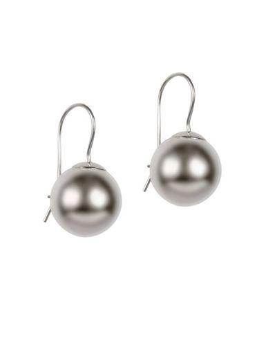 Fine Jewellery 14k White Gold Ball Earrings-WHITE-One Size