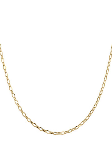 Fine Jewellery 14K Yellow Gold Rolo Link Chain Necklace-GOLD-One Size