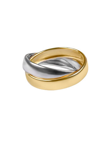 Fine Jewellery 14K Two-Tone Gold Interlocking Band Ring-TWO TONE-One Size