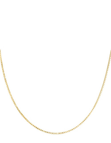 Fine Jewellery 14K Yellow Gold Box Chain Necklace-GOLD-One Size