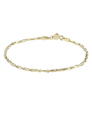 Fine Jewellery Fancy 14K Yellow Gold Elongated Rope Bracelet-YELLOW-One Size