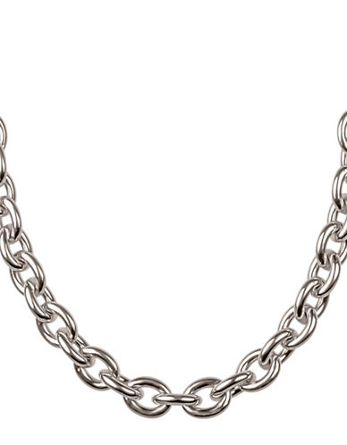 Miscellaneous Sterling Silver Cable Link Chain-SILVER-One Size