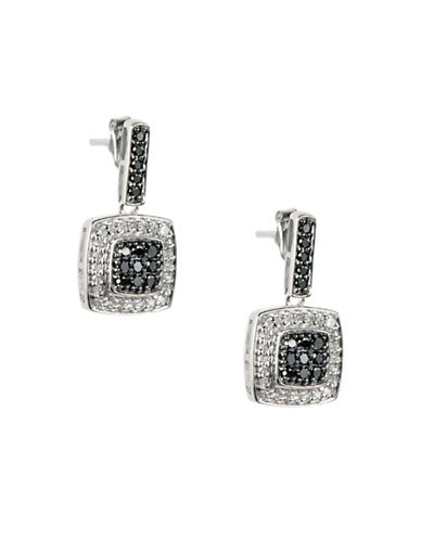 Fine Jewellery 14KT White Gold Pave 0.50TCW Diamond Drop Earrings-DIAMOND-One Size