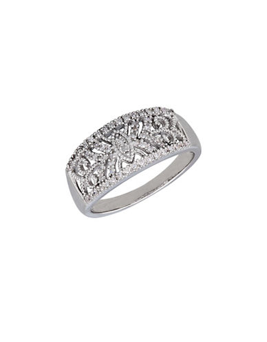 Finecraft Ii 0.20 TCW Diamond Band Ring-SILVER-One Size
