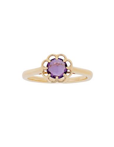 Fine Jewellery 14K Yellow Gold Amethyst Ring-AMETHYST-7