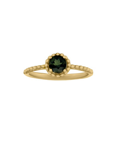 Fine Jewellery 14K Yellow Gold Green Tourmaline Ring-GREEN-7
