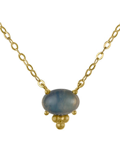 Fine Jewellery 14K Gold Opal Necklace-OPAL-One Size