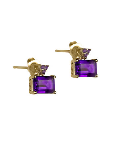 Fine Jewellery 14K Yellow Gold Earrings with Amethyst-AMETHYST-One Size