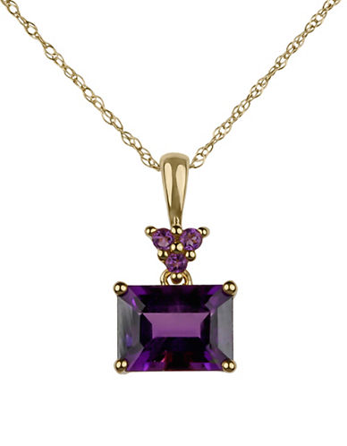 Fine Jewellery 14K Yellow Gold Pendant Necklace with Amethyst-AMETHYST-One Size