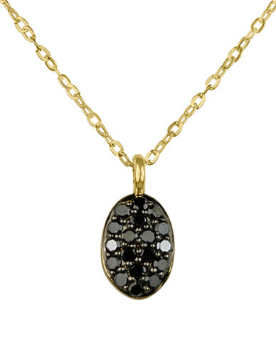 Fine Jewellery 14K Yellow Gold Pendant  with 0.10 TCW Diamonds-BLACK-One Size