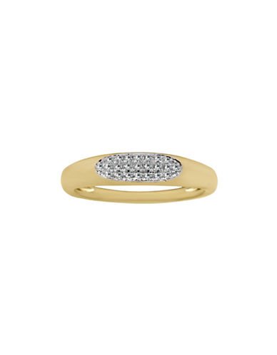 Fine Jewellery 14K Yellow Gold Ring with 0.057 TCW Diamonds-GOLD-One Size