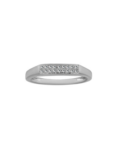 Fine Jewellery 14K White Gold Ring with 0.049 TCW Diamonds-WHITE-One Size