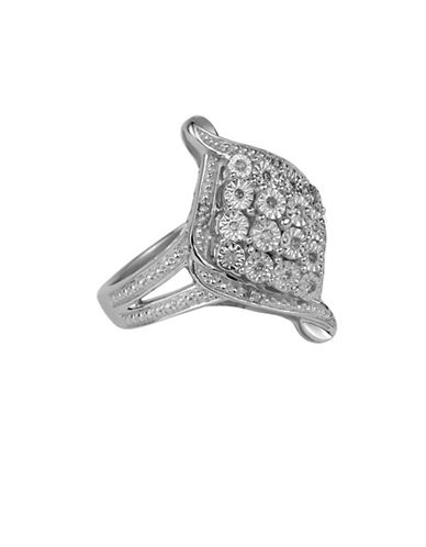 Fine Jewellery Sterling Silver Ring with 0.10 TCW Diamonds-SILVER-7
