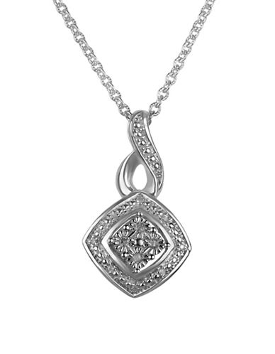 Fine Jewellery 0.064 TCW Diamond Pendant Necklace-SILVER-One Size