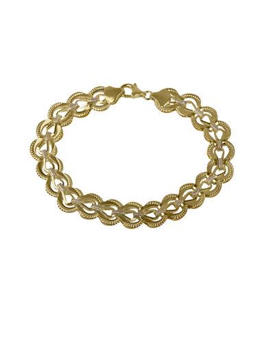 Fine Jewellery 14K Yellow Gold Folder Link Bracelet-GOLD-One Size