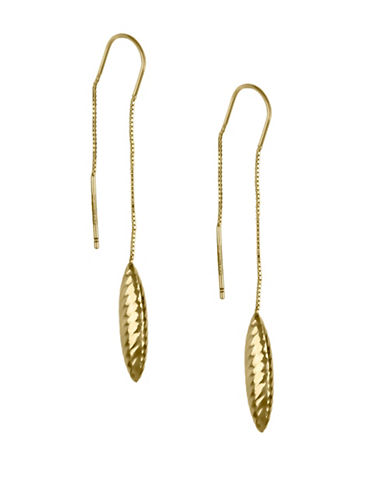 Fine Jewellery 14K Yellow Marquise Pendant Earrings-GOLD-One Size