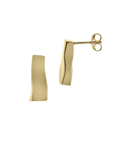 Fine Jewellery 14K Yellow Gold Rectangular Earrings-GOLD-One Size