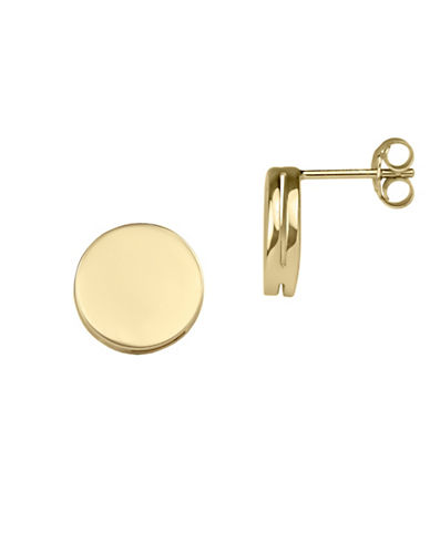 Fine Jewellery 14K Yellow Gold Round Stud Earrings-GOLD-One Size