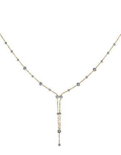 Fine Jewellery 14K PDC Gold Beaded Lariat Necklace-TWO TONE-One Size