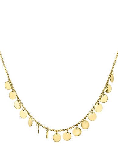 Fine Jewellery 14K Yellow Gold Disk Dangles Pendant Necklace-GOLD-One Size