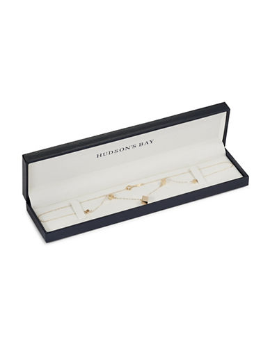 Fine Jewellery 14K Yellow Gold Graduated Dice Necklace-GOLD-One Size