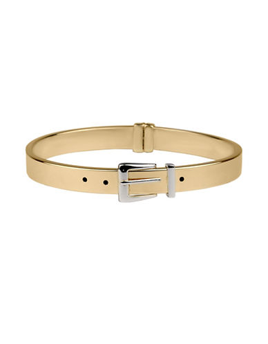 Fine Jewellery 14K Yellow Gold Belt Buckle Bangle-GOLD-One Size