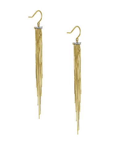 Fine Jewellery 14K Yellow Gold Fringe Earrings-GOLD-One Size