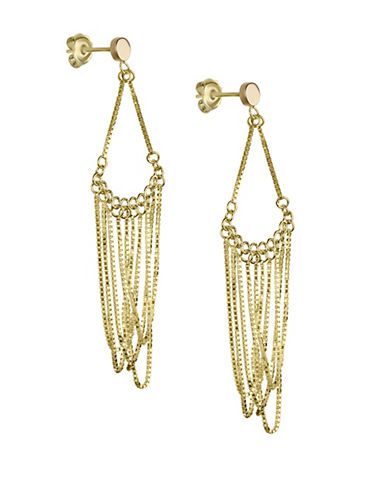 Fine Jewellery 14K Yellow Gold Chain Chandelier Earrings-GOLD-One Size