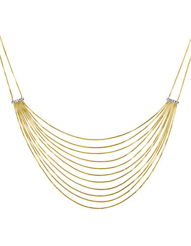 Fine Jewellery 14K Gold Layered Necklace-GOLD-One Size