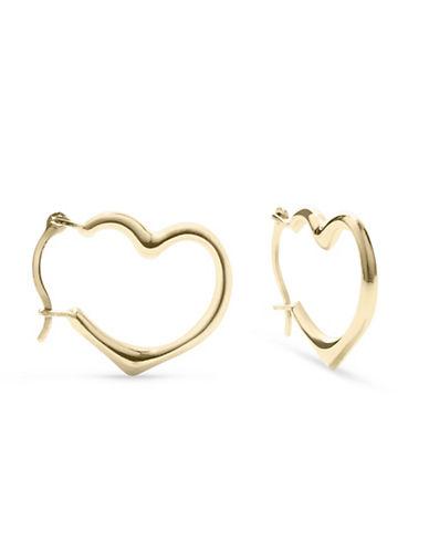 Fine Jewellery 14K Yellow Gold Hoop Earrings-GOLD-One Size