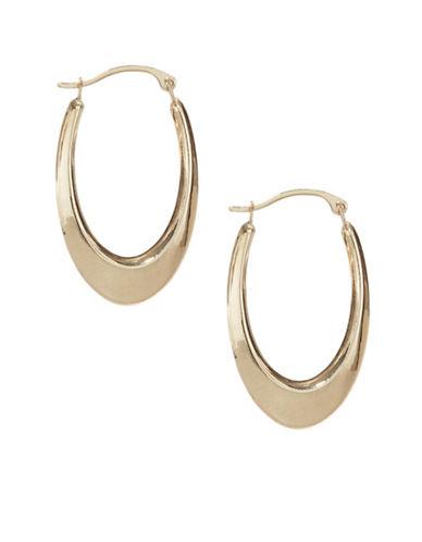 Fine Jewellery 10KT Yellow Gold Hoop Earrings-GOLD-One Size