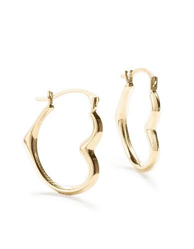 Fine Jewellery 10K Yellow Gold Hoop Earrings-GOLD-One Size
