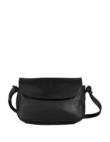 Derek Alexander Flap Adjustable Strap Handbag-BLACK-One Size