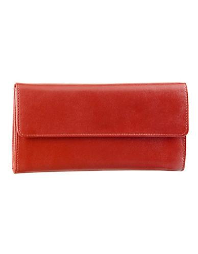 Derek Alexander Ladies 3 Part Cheque Book-RED-One Size