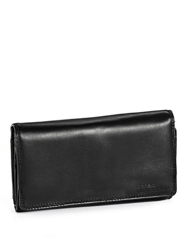 Derek Alexander Large Multi Compartment Wallet-BLACK-One Size