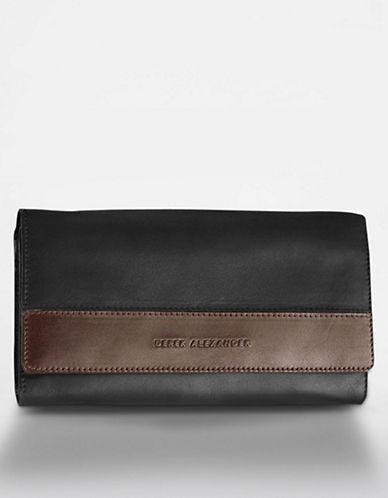 Derek Alexander Multi Compartment Clutch Ladies Wallet-BLACK-One Size