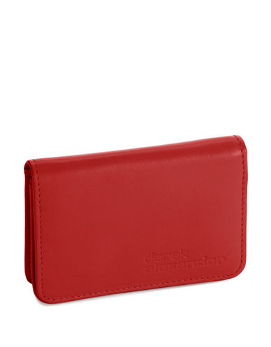 DEREK ALEXANDER Simple Business Card  Credit Card Case red