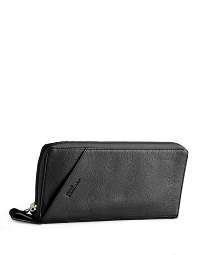 Derek Alexander Leather Travel Wallet-BLACK-One Size