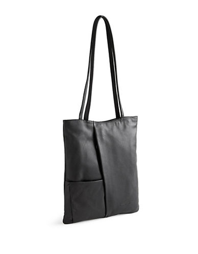 Derek Alexander Leather Shopper Bag-BLACK-One Size